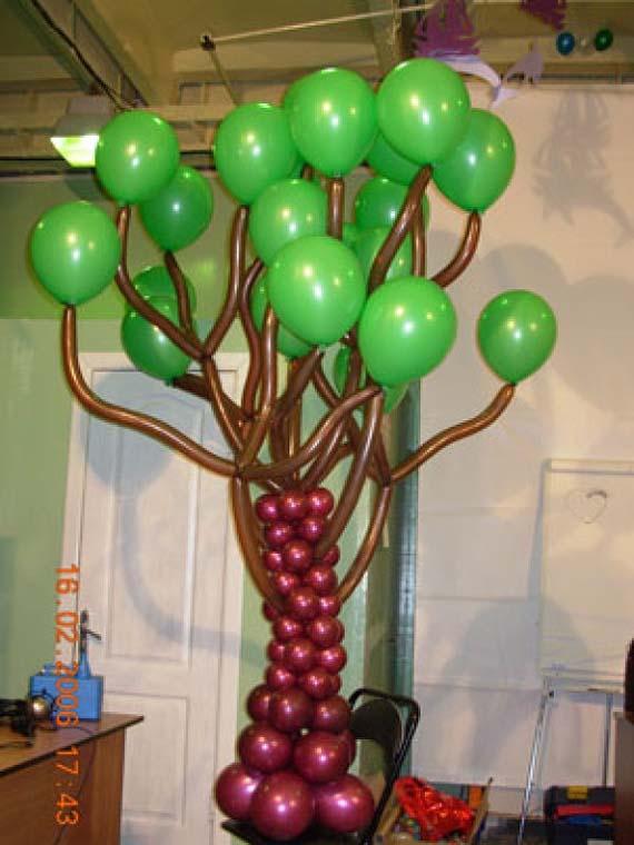 Дерево из шаров своими руками фото