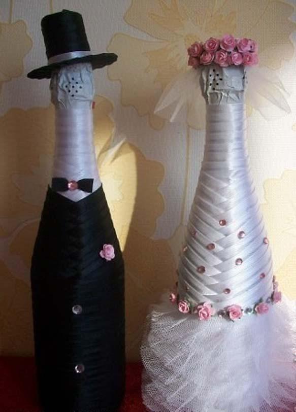 Свадебные шампанское своими руками мастер класс видео