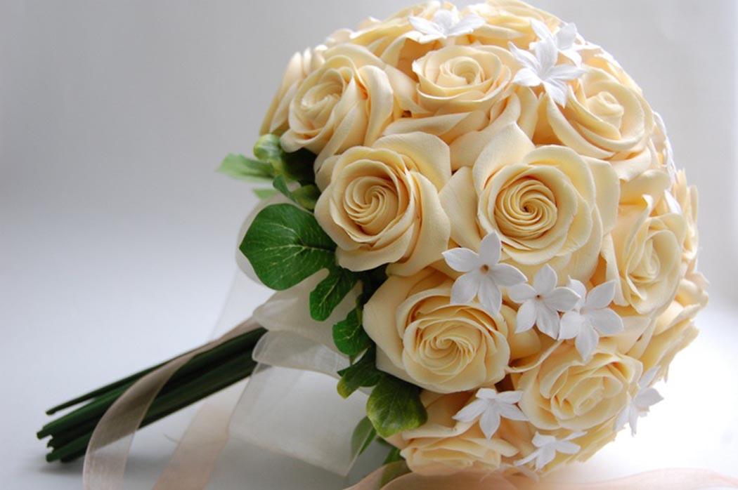 Как сделать розу из лент для свадебного букета