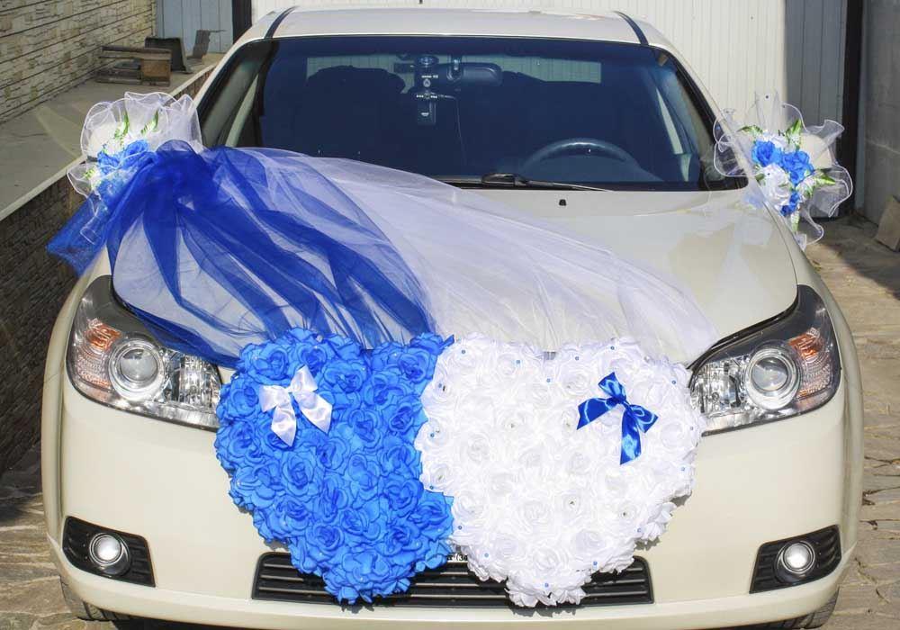Украшения на свадьбу машины