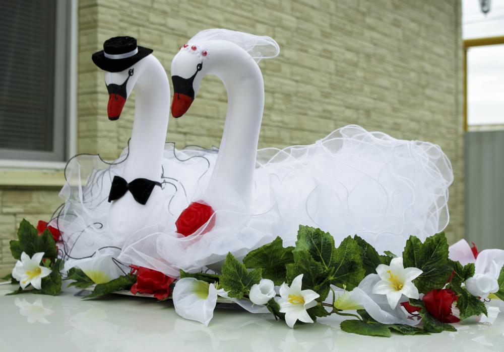 Свадебные лебеди сделать своими руками на машину