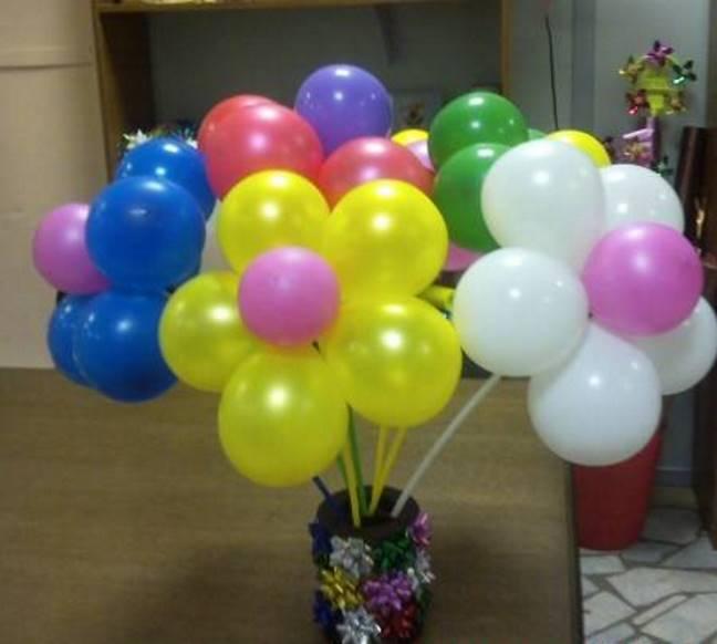 Воздушные шары как сделать букет