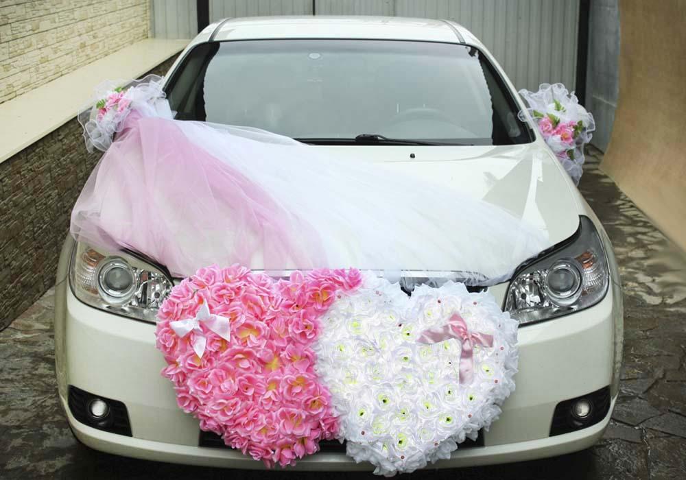 Сердце на машину на свадьбу