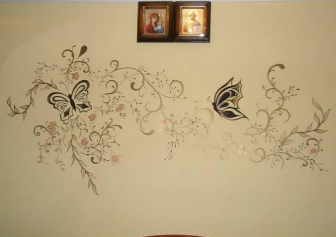 Фото рисунков на стене своими руками