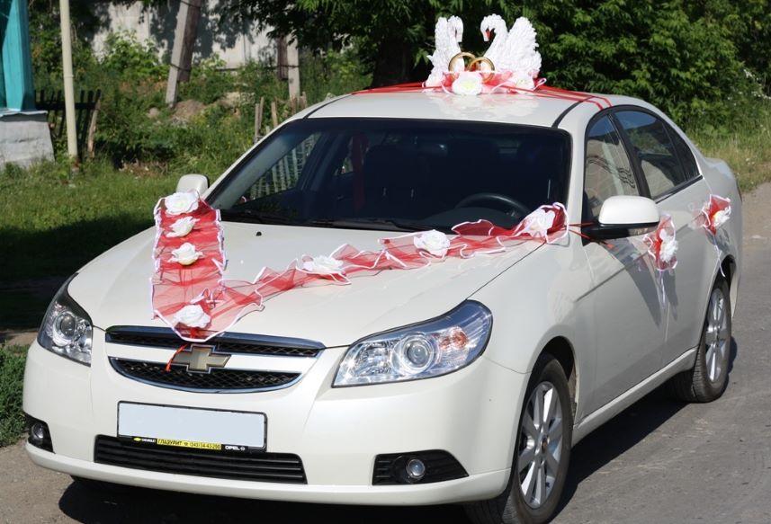 Украшение на крышу машины на свадьбу