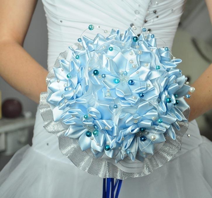 Букет невесты своими руками из атласной ленты