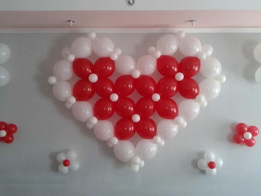 Как сделать с шариками сердечко 977