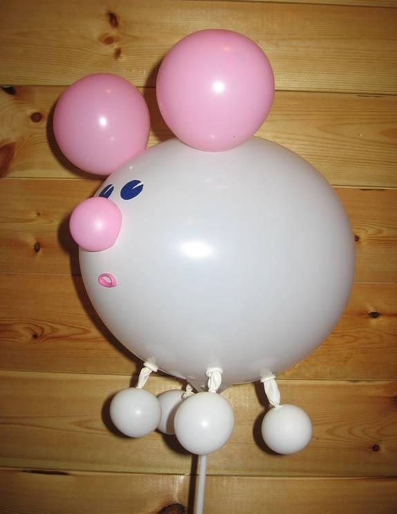 Как сделать игрушку и воздушных шаров