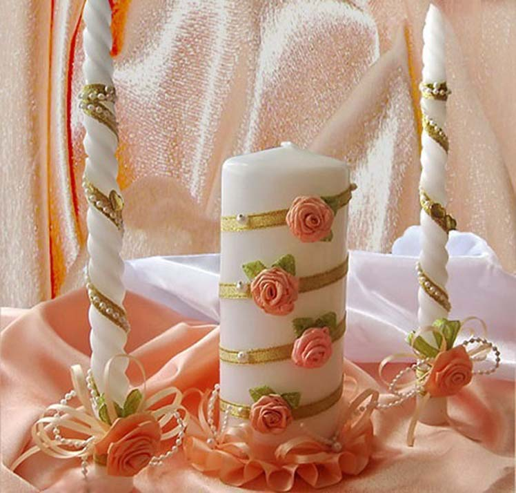 Украшаем свечу своими руками