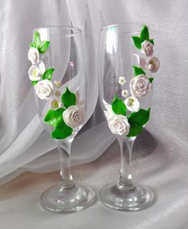 Свадебный бокал своими руками полимерная глина