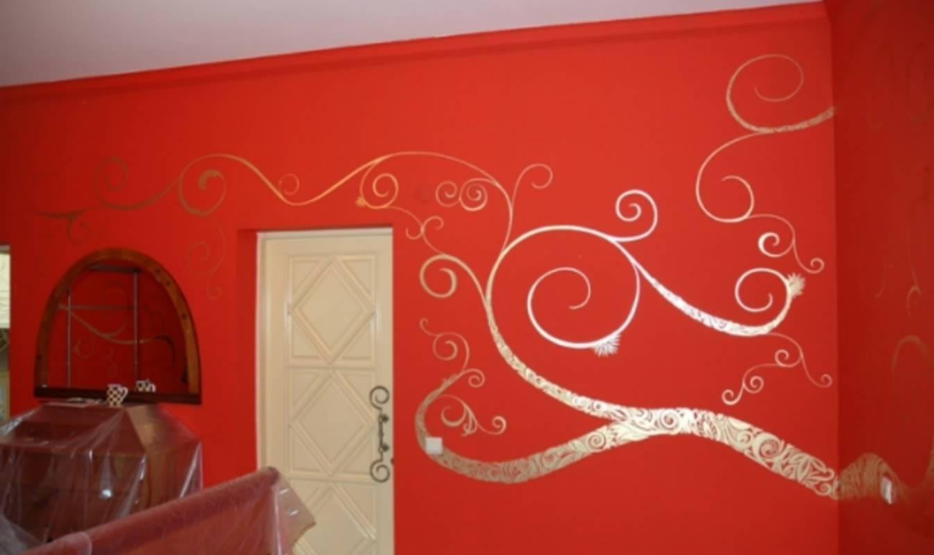 Роспись стен орнаментом своими руками