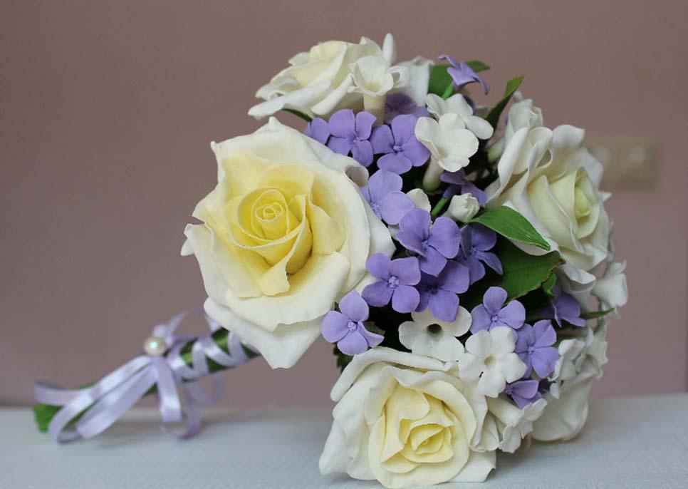 Красивые цветы из полимерной глины мастер класс
