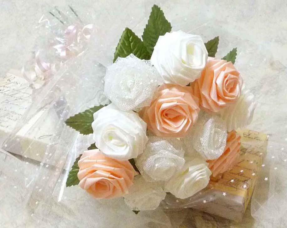 Розы из ткани букеты
