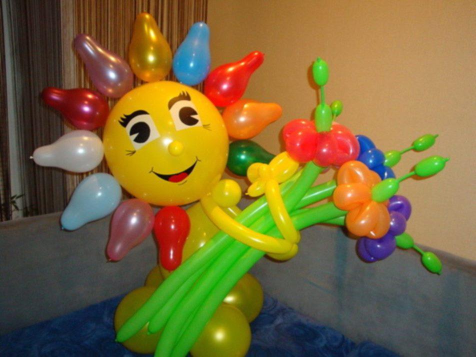 Простые поделки из воздушных шаров своими руками видео