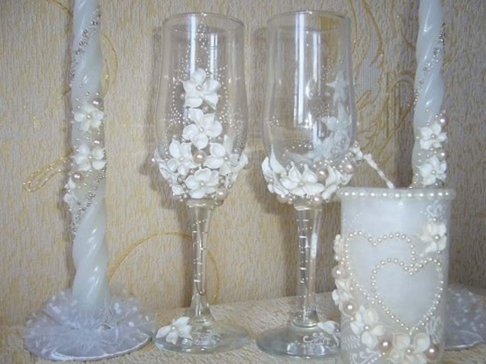 Декор стаканов своими руками фото