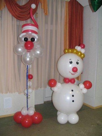Поделки на новый год из воздушных шаров и ниток