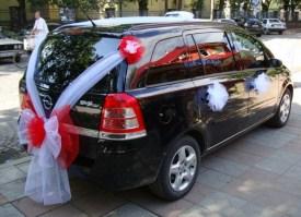 Как украсить машину на свадьбу фатином своими руками