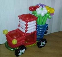 Машина из шаров своими руками с фото 158